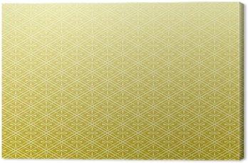 Tableau sur Toile Vent Ling Wen fond d'or