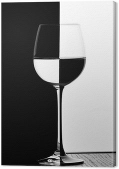 Tableau sur Toile Verre de vin domino