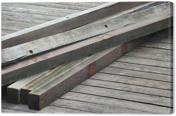 Tableau sur Toile Vieilles poutres en bois