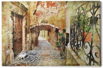 Tableau sur Toile Vieilles rues picturales de la Grèce, Crète