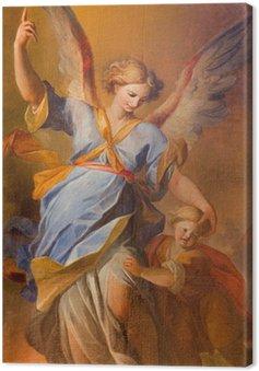 Tableau sur Toile Vienne - la douleur d'ange gardien à l'église des Jésuites baroque