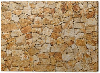 Tableau sur Toile Vieux mur, construit de briques rugueuses