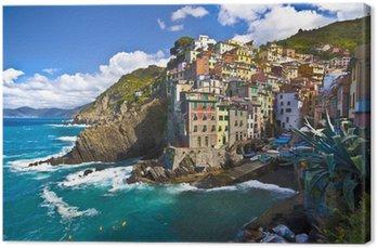 Tableau sur Toile Village de pêcheurs de Riomaggiore dans les Cinque Terre, Italie
