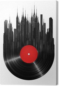 Tableau sur Toile Ville de vinyle