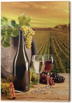 Tableau sur Toile Vin dans le vignoble