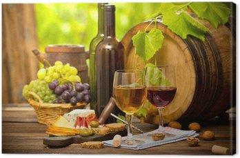 Tableau sur Toile Vin et fromage