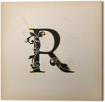 Tableau sur Toile Vintage lettre initiales r