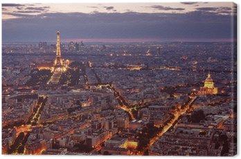 Tableau sur Toile Vue de nuit de Paris.