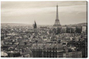 Tableau sur Toile Vue de Paris et de la Tour Eiffel d'en haut