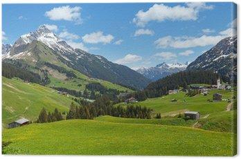 Tableau sur Toile Vue des Alpes (Vorarlberg, Autriche)