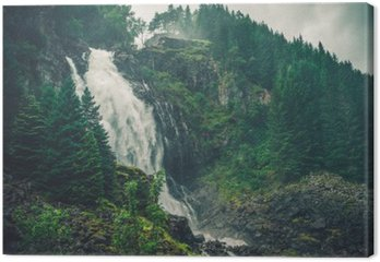 Tableau sur Toile Waterfall Norwegian Scenic