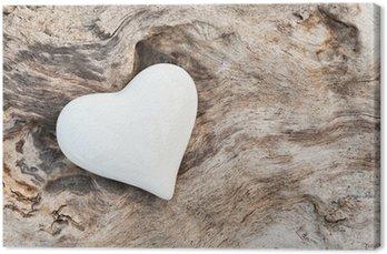 Tableau sur Toile White Heart