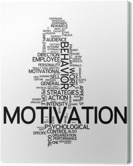 "Tableau sur Toile Word Cloud ""Motivation"""