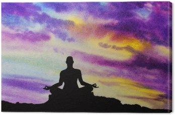Tableau sur Toile Yogi dans la position du lotus
