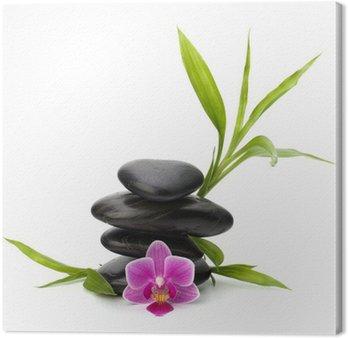 Tableau sur Toile Zen équilibre de cailloux. Spa et le concept de soins de santé.