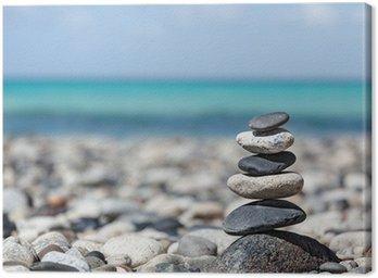 Tableau sur Toile Zen pierres pile équilibrée