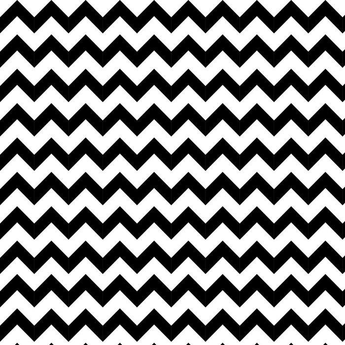 Vinyltapete Abstrakte geometrische Zick-Zack-nahtlose Muster. Vektor - Stile