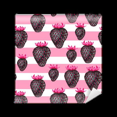 tapete abstrakte nahtlose muster mit erdbeeren im pop art stil pixers wir leben um zu. Black Bedroom Furniture Sets. Home Design Ideas