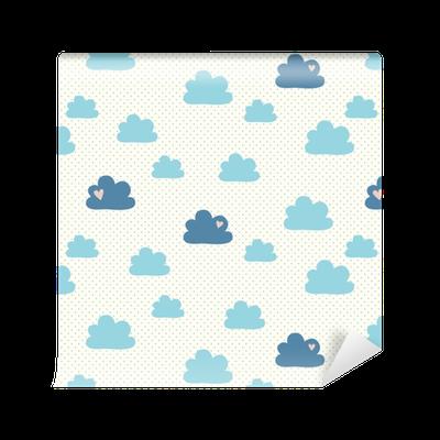 tapete nahtlose muster mit wolken pixers wir leben. Black Bedroom Furniture Sets. Home Design Ideas