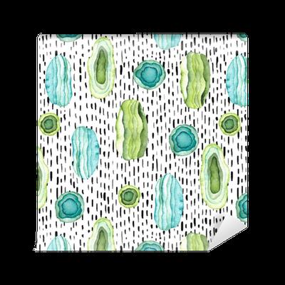 tapete nahtlose muster von aquarell abstrakte formen mit stein textur pixers wir leben um. Black Bedroom Furniture Sets. Home Design Ideas