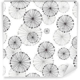 Vinyltapete Nahtlose Muster von Löwenzahn