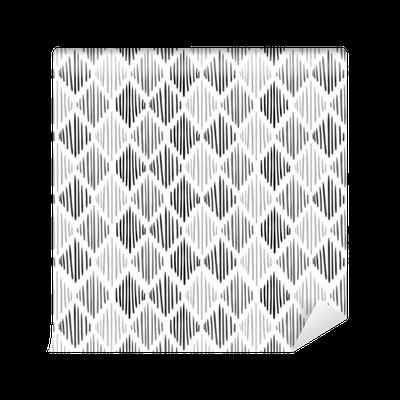 tapete nahtloses schwarzweiss muster vektorhintergrund mit hand gezeichneter raute pixers. Black Bedroom Furniture Sets. Home Design Ideas