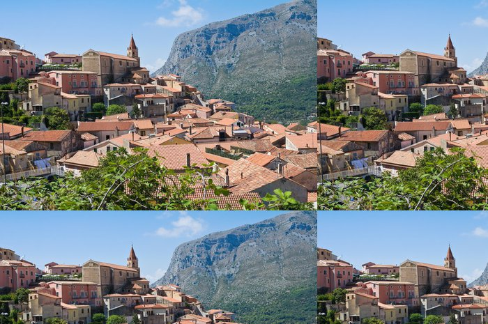 Vinyltapete Panoramablick von Maratea. Basilicata. Italien. - Urlaub