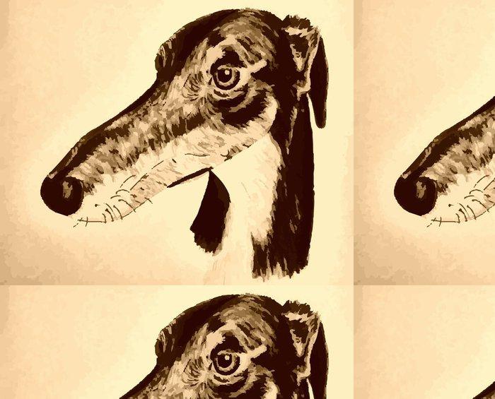 Vinyltapete Quirky handgezeichneten lurcher Originalvorlage - Traurigkeit