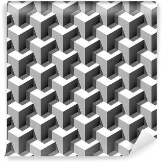 Pixerstick Tapet 3d kuber mönster