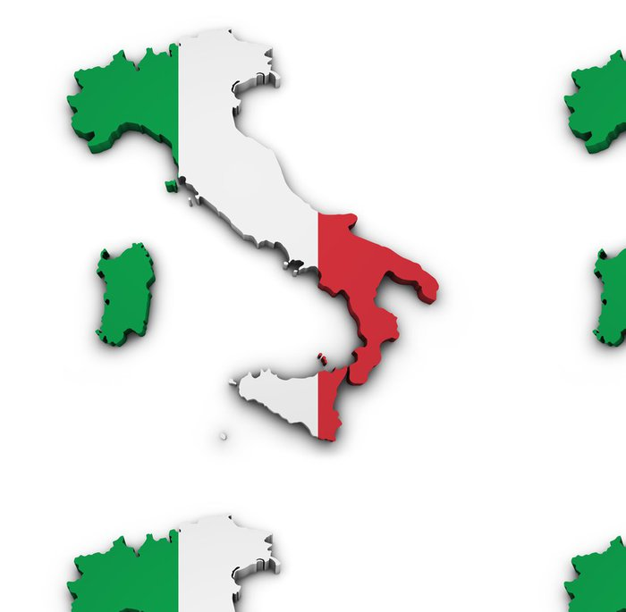 Vinyltapet Italien kartlägger sjunker Shape - Europa