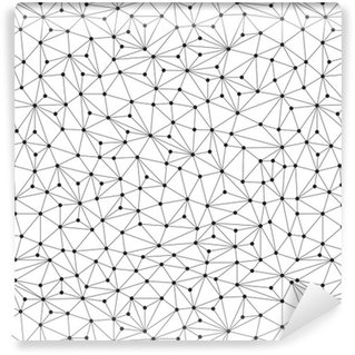 Vinyltapet Polygonal bakgrund, seamless mönster, linjer och cirklar