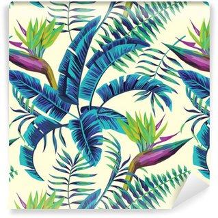 Vinyltapet Tropisk exotisk målning sömlös bakgrund