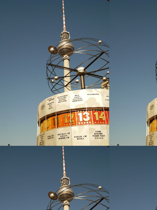 Vinyltapet World Clock - Weltuhr Berlin - Europa