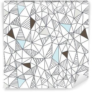 Abstrakti saumaton doodle kuvio Vinyylitapetti