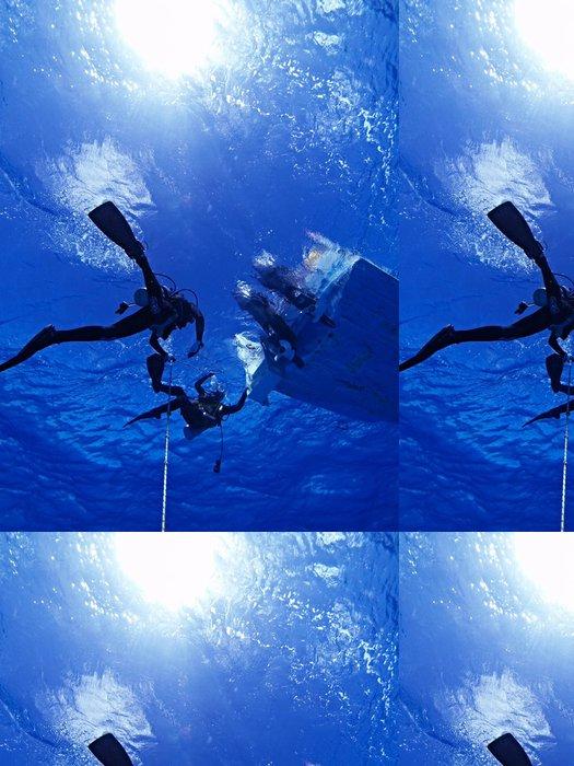 Tapeta Pixerstick 透明 な 青 - Vodní sporty