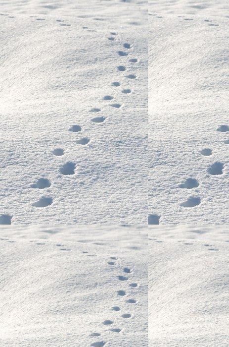 Vinylová Tapeta 雪原 に 付 い た 動物 の 足跡 - Roční období