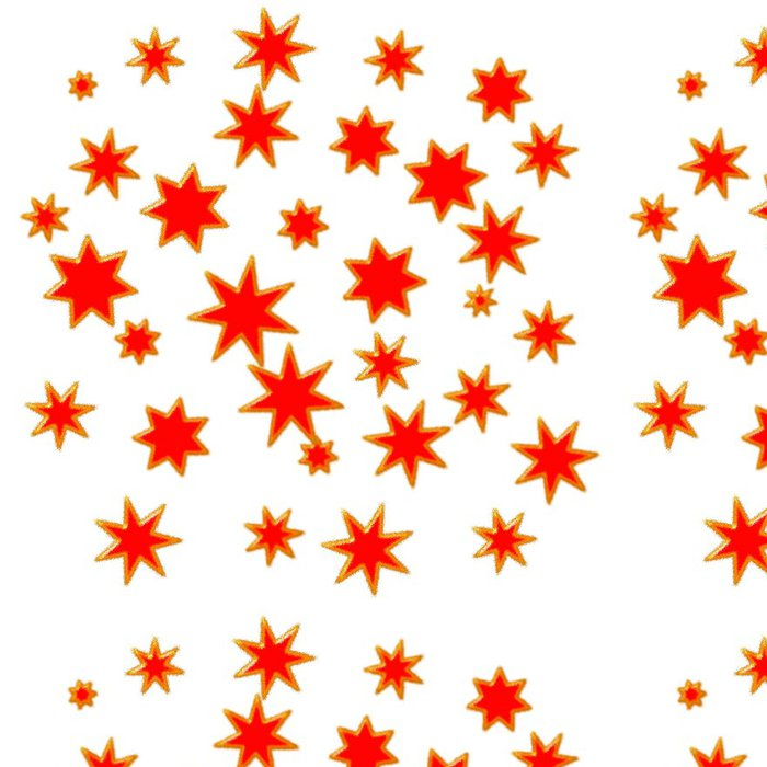 Tapeta Pixerstick Звезды красные на белом фоне - Témata