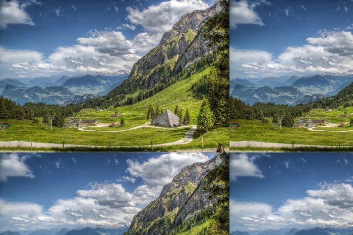 Tapeta Pixerstick Швейцарские Альпы - Evropa
