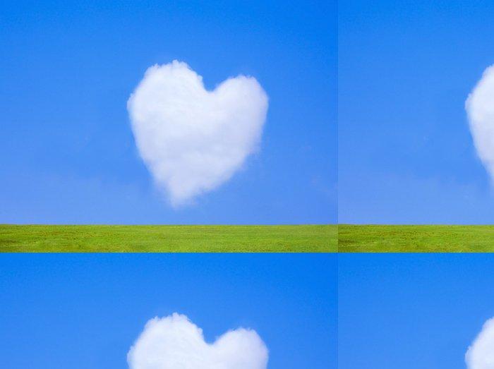 Tapeta Pixerstick ハ ー ト の 雲 と 草原 - Nebe