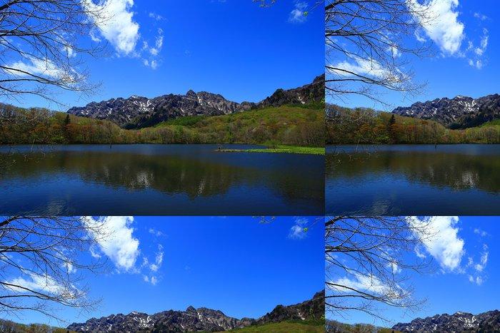 Tapeta Pixerstick 山 を 映 す 穏 や か な 湖 - Voda