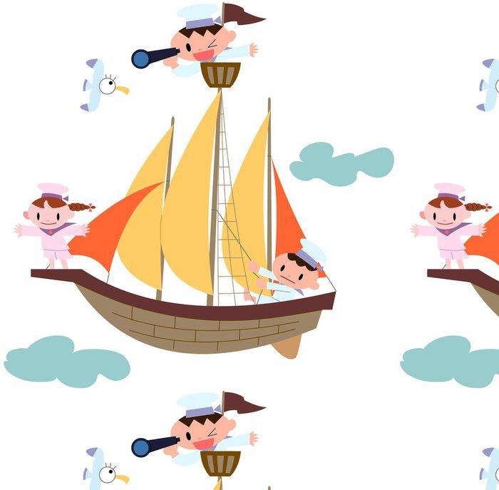 Tapeta Pixerstick 帆船 と 子 ど も - Děti