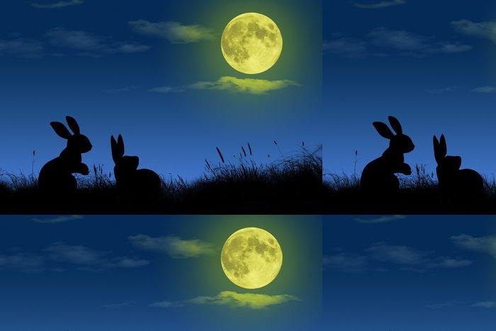Tapeta Pixerstick 満 月 - Nebe
