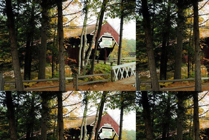 Tapeta Pixerstick (01792) bartlett krytý most - Amerika