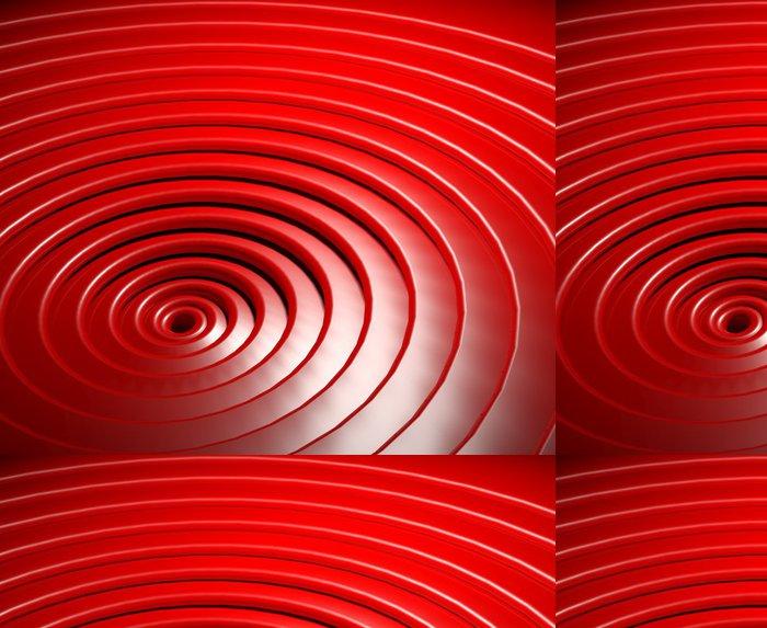Vinylová Tapeta 3d abstraktní lesklé plastové kruhy - Značky a symboly