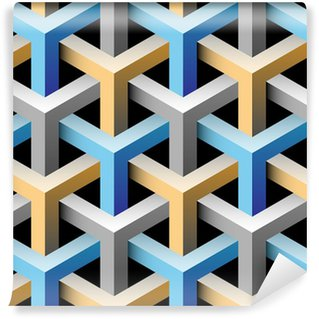 Tapeta Pixerstick 3d bezešvé vzor