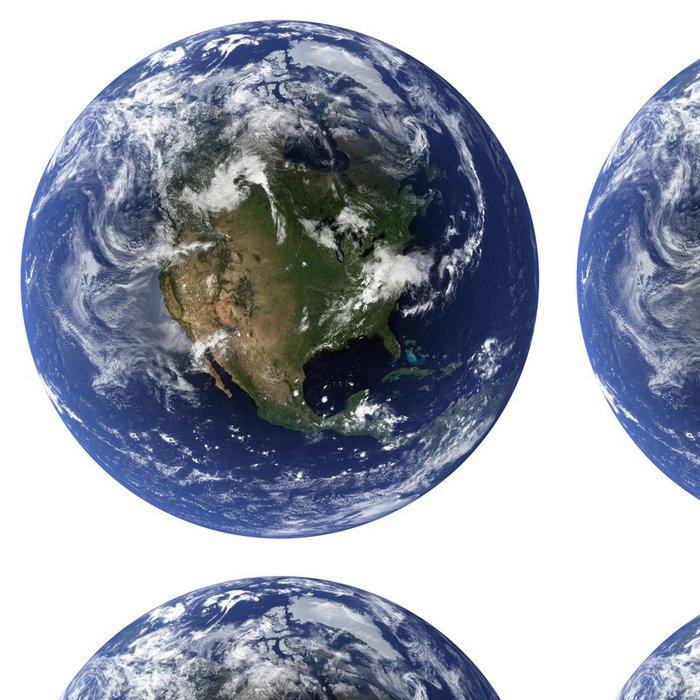 Tapeta Pixerstick 3D (Clouds & topografie mapy pocházejí z earthobervatory / NASA) - Meziplanetární prostor