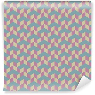 Vinylová Tapeta 3d kostka vektorové bezešvé vzor.