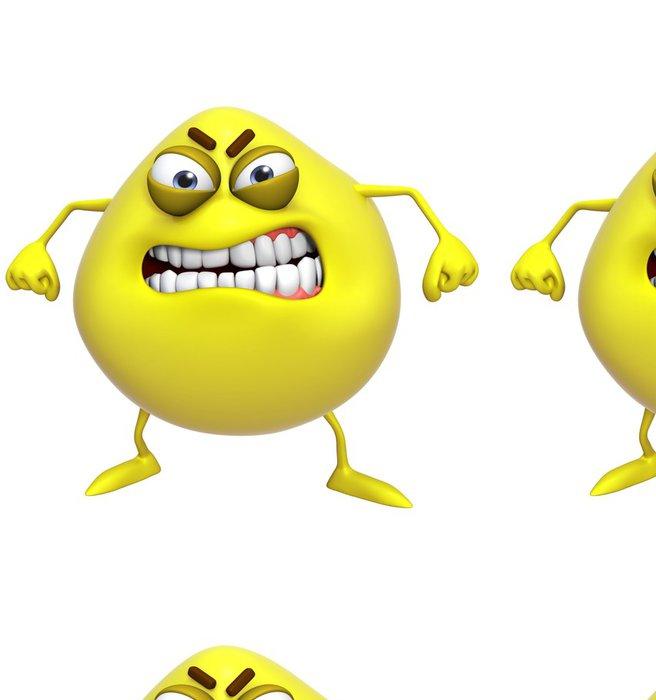 Vinylová Tapeta 3D kreslená roztomilé žluté monstrum - Imaginární zvířata