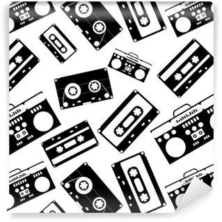 Vinylová Tapeta 80. nostalgický styl. vintage retro 80 je vektorové módní bezešvé vzorek.