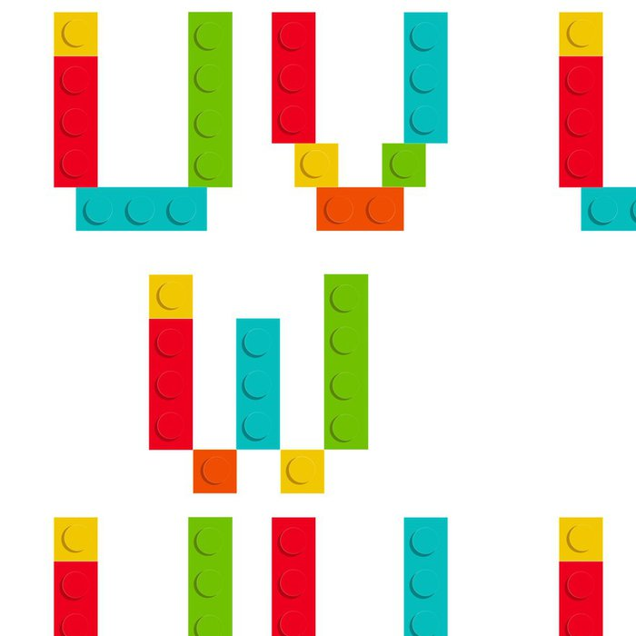 Tapeta Pixerstick Abeceda souprava z Stavebnice cihelných bloků izolované iso - Témata